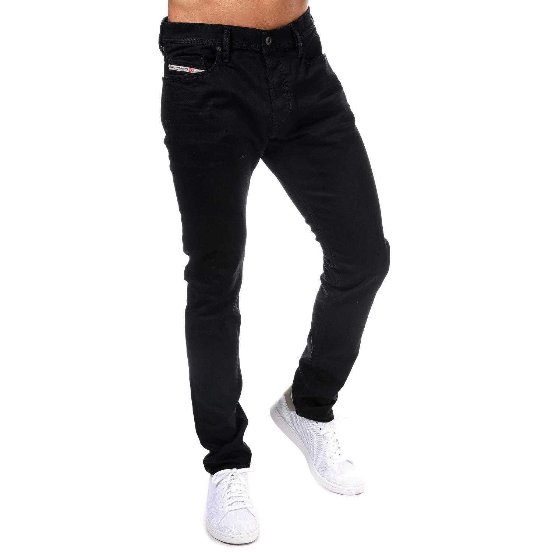 fddb3b29261 Diesel Men s Jeans Tepphar Slim Fit Cotton Black Mid-Rise 00CKRI- OR84A - 02