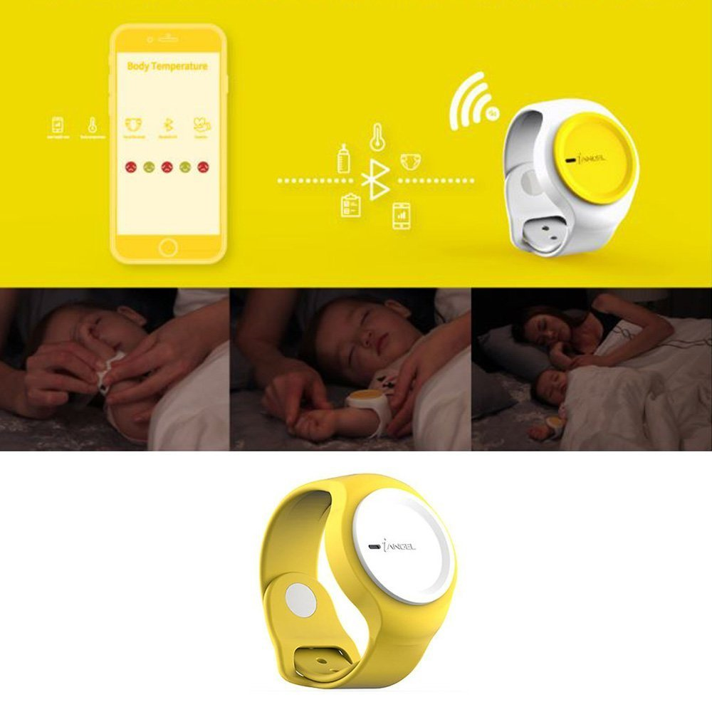 Baby Pee & Poo Alarm Abnormal Temperature Check Wearable Smart Baby Monitor Health Care Device Baby Monitor Wifi