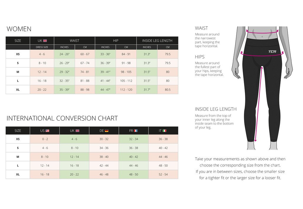 Total Compression Advanced Women's TCA SuperThermal Performance Running Tights/Leggings - Black/Black S - Black/Black - S
