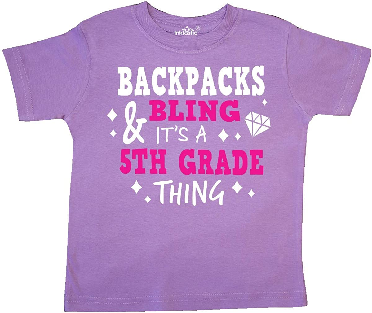 inktastic Backpacks and Bling Its a 5th Grade Thing Toddler T-Shirt