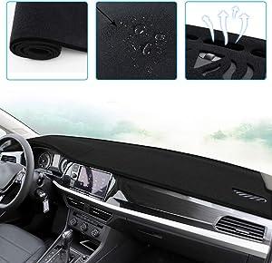 ALLYARD Custom Dash Board Cover Mat for BMW 5 Series F10 F11 E34 E39 E60 E61 F07 G30 520i 525i 528i 530i 535i 540i 550i 520d 530d 2014-2017 Dashboard Dash Protector Easy Installation Black