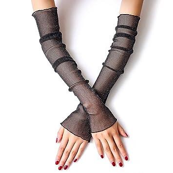 Bememo UV-Schutz /Ärmel Handschuhe Handgelenkl/änge Sonnenschutz Fahren /Ärmel Handschuhe Unisex fingerlose /Ärmel