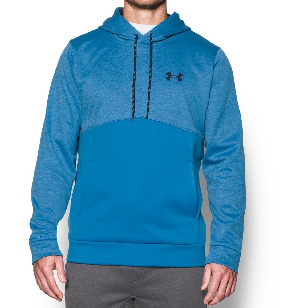 Under Armour Men's Storm Armour Fleece Twist Hoodie, Brilliant Blue/Midnight Navy, Large