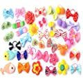 Elisona®20 PCS Pet Hair Bows Hair Band Dog Puppy Cat Grooming Accessories Random Color and Style