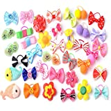 20 PCS Pet Hair Bows Hair Band Dog Puppy Cat Grooming Accessories Random Color and Style