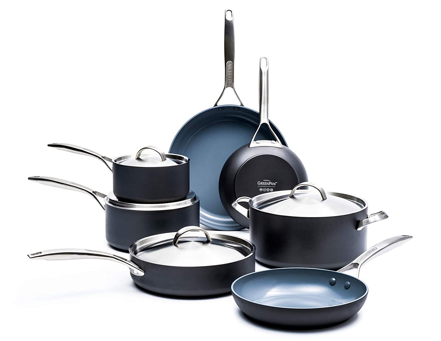 GreenPan Paris Pro 11pc best ceramic Cookware Set, Non-Stick