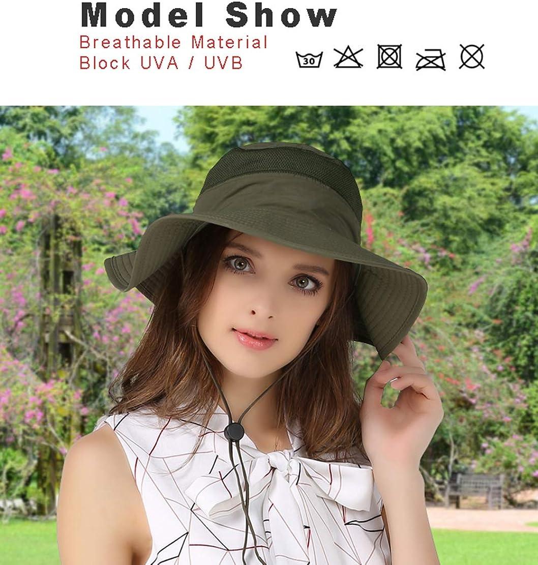VICSPORT Windproof Fishing Hats UPF50 UV Protection Sun Cap Outdoor Bucket Mesh Hat 56-61cm