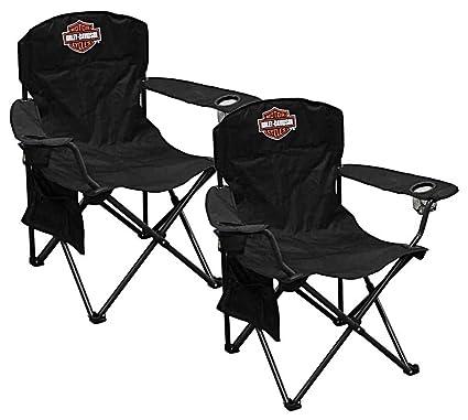 Amazon.com: Harley-Davidson - Juego de 2 sillas compactas de ...