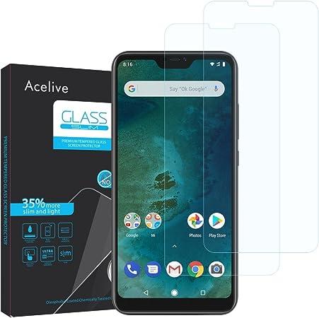 Acelive Cristal Templado Xiaomi Mi A2 Lite, 2 Unidades Protector ...