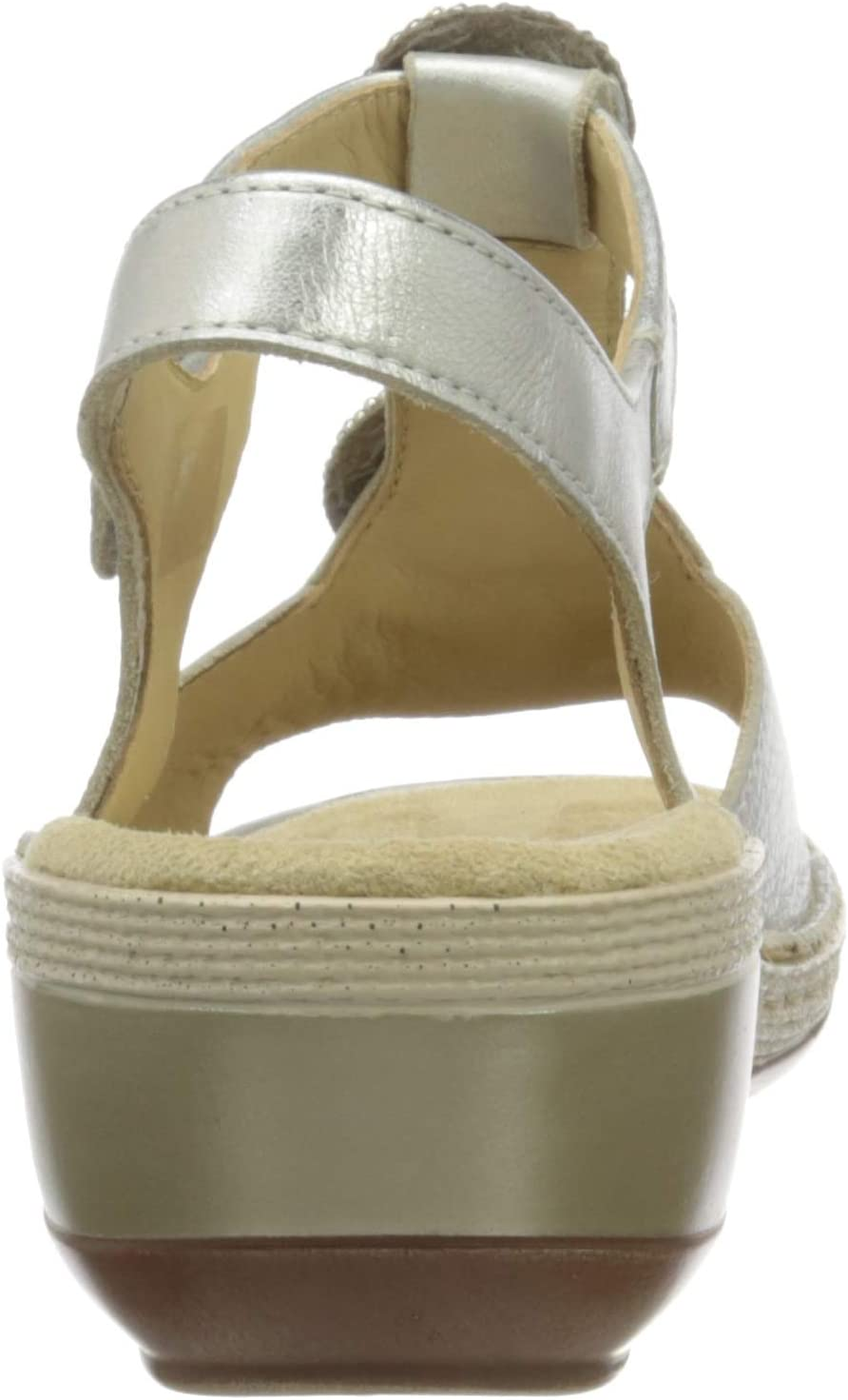 ARA Key West T-spangen sandalen voor dames Wit witgoud 14