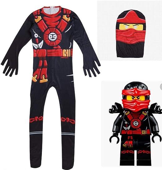 JF Disfraz de Ninja para niños de Halloween, Traje de Cosplay de ...