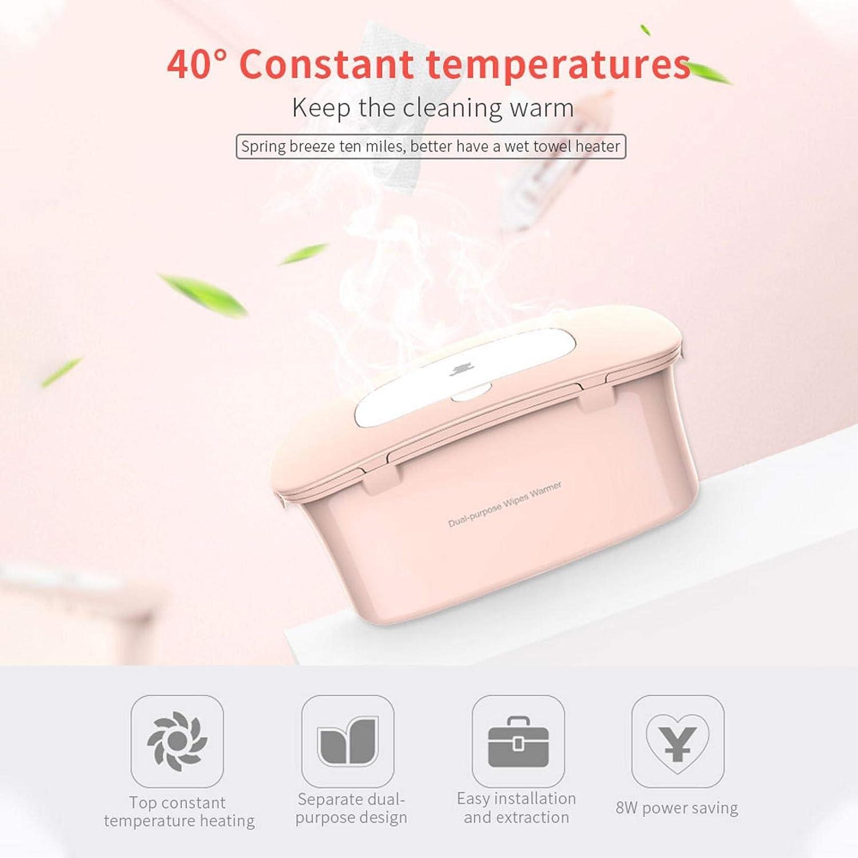 Tongyundacheng Wipe Warmer Estuche para Calentador De Toallitas para Beb/és Calentador Port/átil De Toallitas para Beb/és