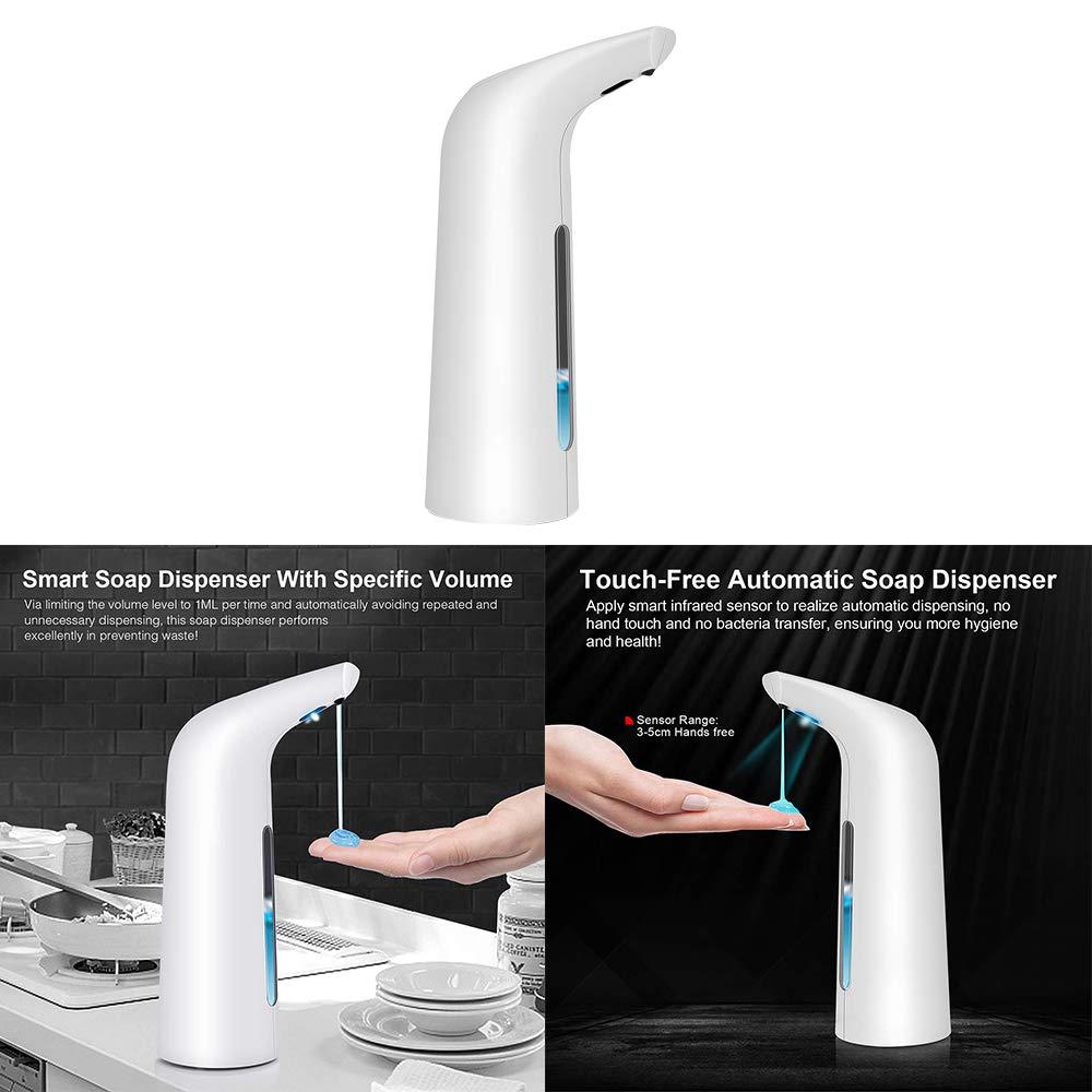 Dispenser Automatico di Sapone in Schiuma Touchless 400ml Automatico a Mani Libere per Cucina E Bagno Konesky Erogatore di Sapone