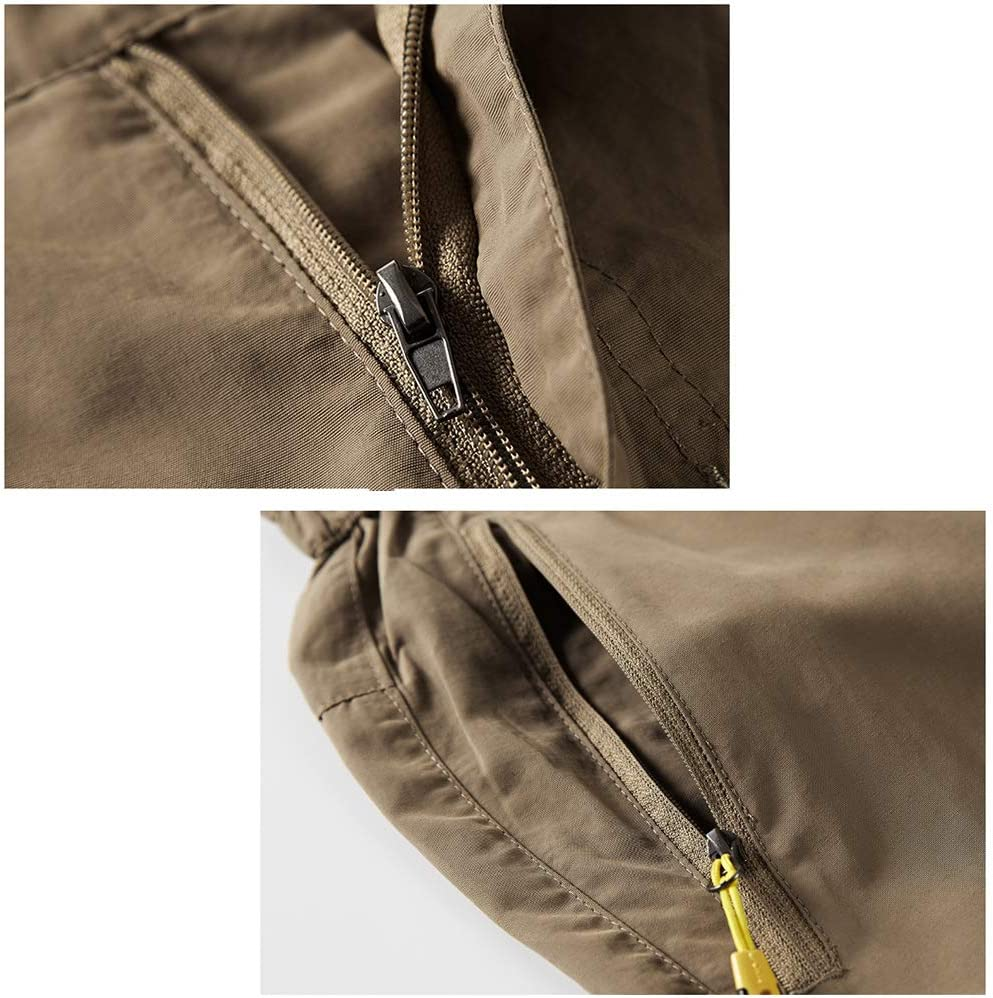 Xersex 2 EN 1 Pantalones de Pesca para Hombre T/érmica Softshell Impermeable a Prueba de Viento Pantalones al Aire Libre Pantalones Camping Senderismo Esqu/í