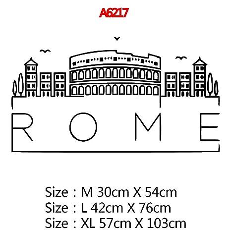 Mapa de Roma 3d arte de la pared calcomanías etiqueta Mural ...