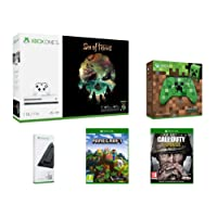 Xbox One S 1To - Sea of Thieves + Manette Minecraft Creeper + Support Vertical + Call of Duty : WWII + Minecraft