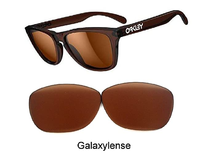 82f9d45e74 Galaxy Prizm Technology Replacement Lens For Oakley Frogskins Sunglasses  Brown