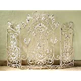 french fireplace screens. FIREPLACE SCREENS  CHENONCEAU DECORATIVE FIRE SCREEN ANTIQUE WHITE Amazon com French Country White Iron Fireplace Screen Home Kitchen