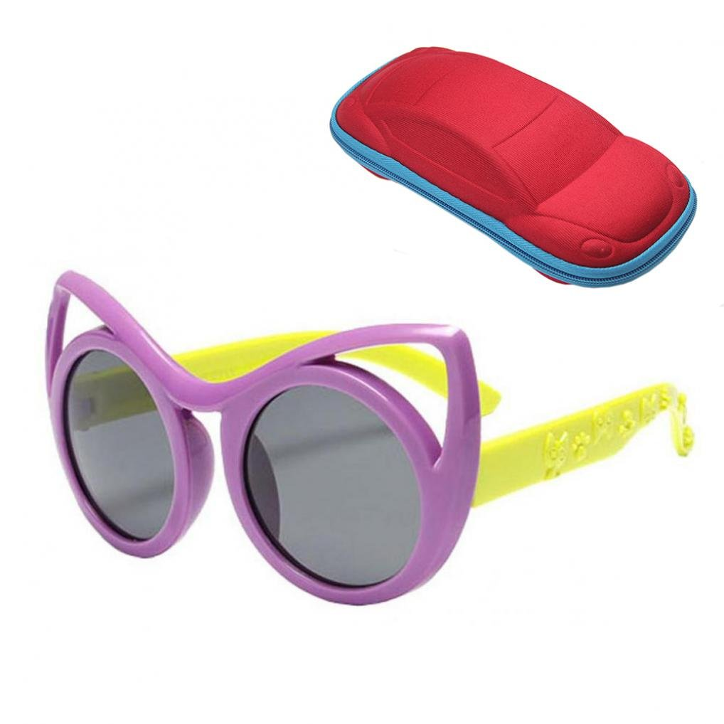 WODISON Kids Cat Eye Sunglasses with Case Children Sun Glasses for Age 3 to 10 JF Store