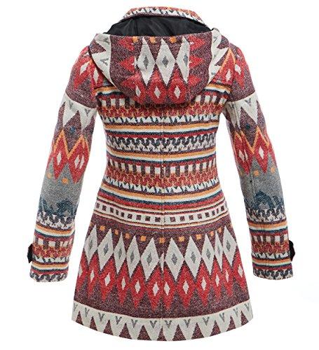 FEMMES manteau imprim laine douce femmes TRANSPORT SS7 IwnqTZCC