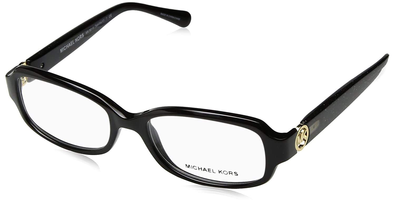 michael kors tabitha v mk8016 eyeglass frames 3099 52 blackblack glitter mk8016 3099 52 at amazon womens clothing store - Mk Glasses Frames