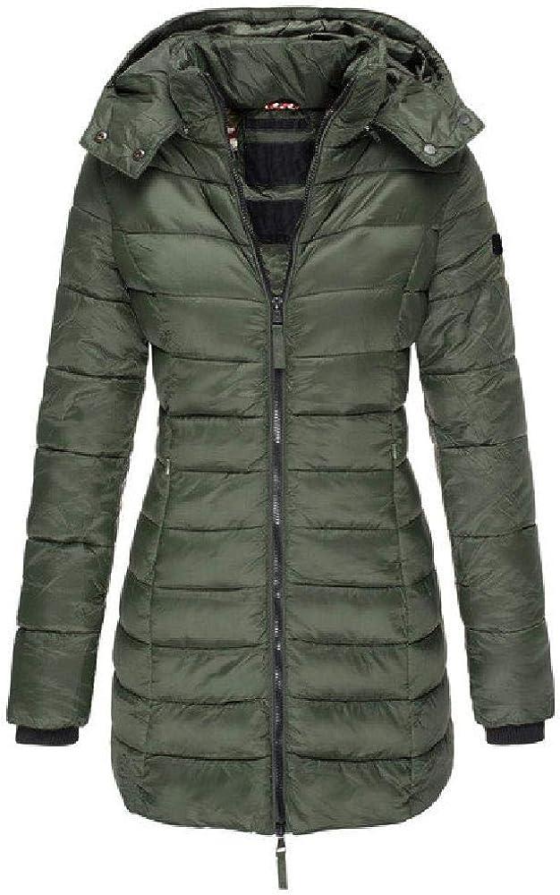 Parka con capucha para mujer, abrigo cálido, sólido, delgado, acolchado, de algodón, parka larga, parka para mujer, guarnición de algodón, parka más tamaño