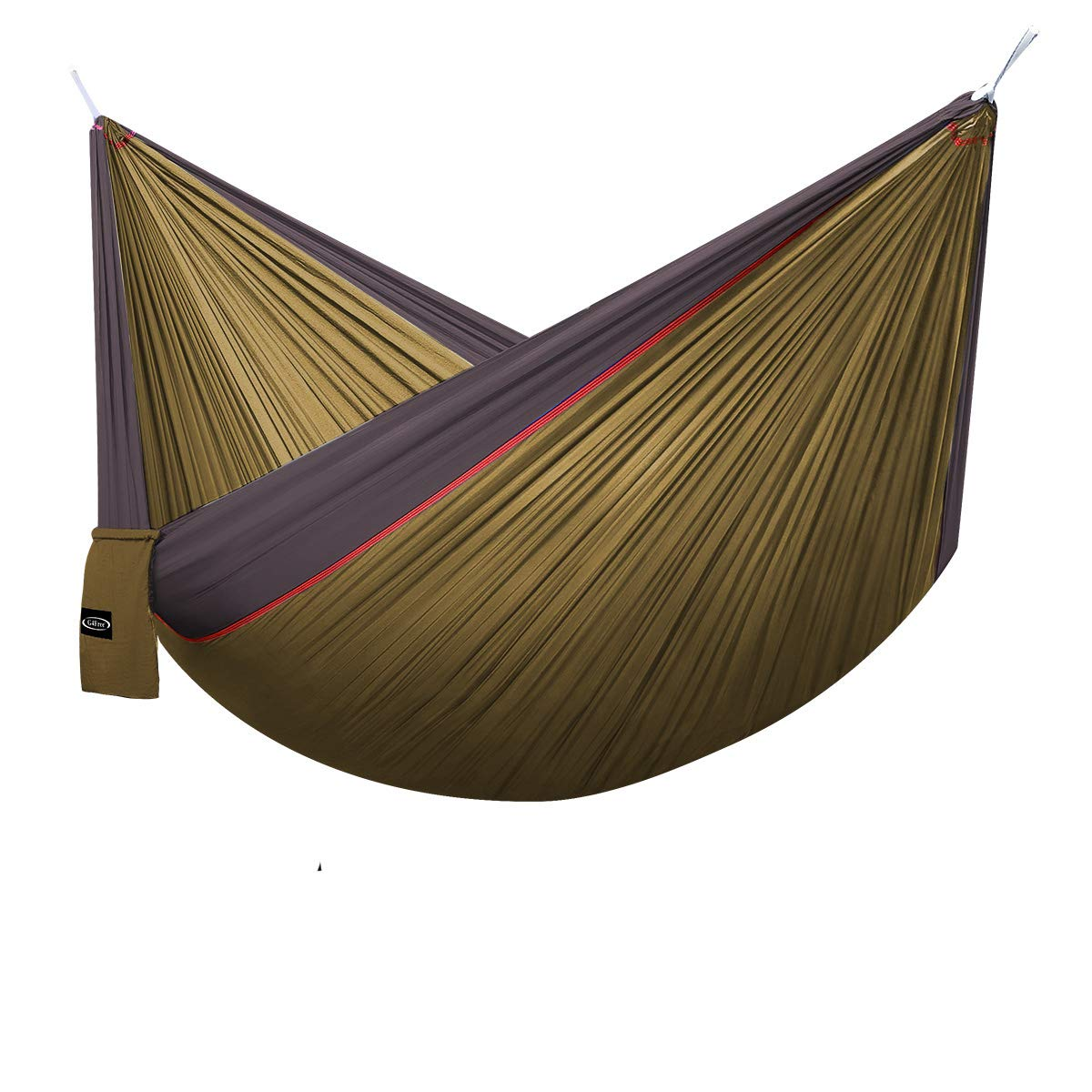 Grey Camel G4Free Double Camping Hammock  Portable High Strength Hammock  Lightweight Blend color Nylon Fabric Parachute for Outdoor. Hammock Straps & Steel Carabiners include