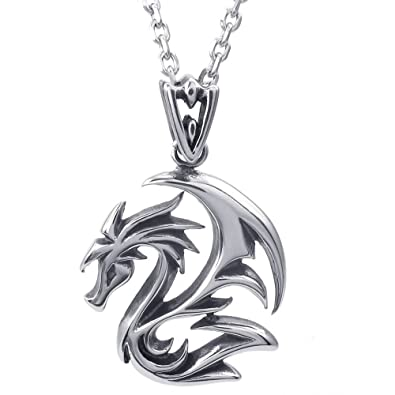 Gilind Gothic Bat or Dragon Necklace Jewelry (with Gift Box) r4FdHoC7tX