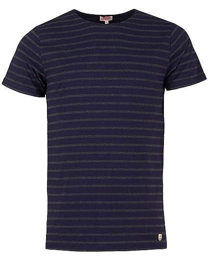 6c2954f3f5 Armor Lux Heritage Breton Striped Short Sleeve T Shirt Iroise Navy Ebony  Grey - X-Large: Amazon.co.uk: Clothing