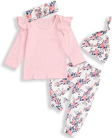 Newborn Baby Girls Spanish Style Romper /& Hat Set Special Little One Pink