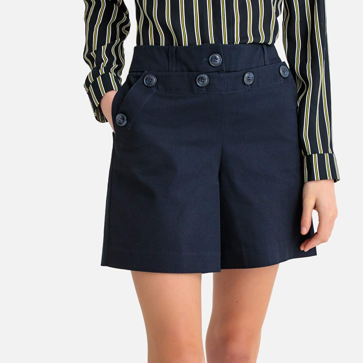 La Redoute Collections Womens High Waist Shorts