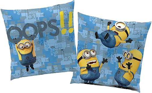 BERONAGE Manta Cojín la Minions Diseño OOOPS 40 cm x 40 cm ...