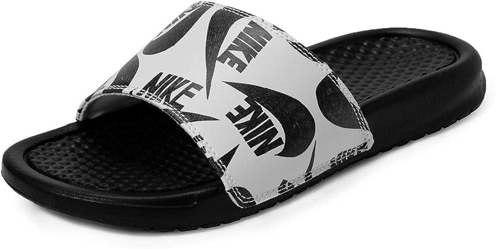 Nike Sandales Slide pour femme, Noir (Noirblanc), 39 EU