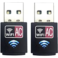 Dual Band 600Mbps 2.4GHz 5GHz USB WiFi Wireless Dongle AC600 LAN Network Adapter (2 Pack)