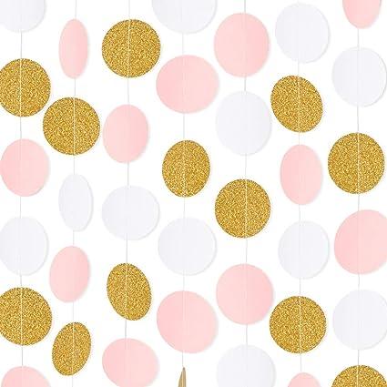 Amazon.com: RUBFAC 5 guirnaldas de papel de 65 pies, color ...