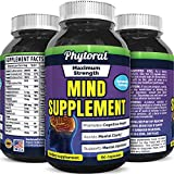 Phytoral Mind Memory Matrix Brain Supplement for Adults to Boost Focus Concentration Mental Performance - Natural Nootropic Pills for Men Women - DMAE Bitartrate Green Tea Bacopa