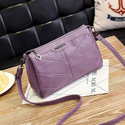 GUANGMING77 Bolso De Hombro Único Paquete Xiekua _ Hombro Mano Simple De Mediana Edad,Púrpura Taro Purple taro