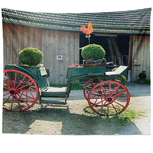Westlake Art - Vehicle Wheel - Wall Hanging Tapestry - Picture Photography Artwork Home Decor Living Room - 68x80 Inch (Pottery Wagon Wheel)