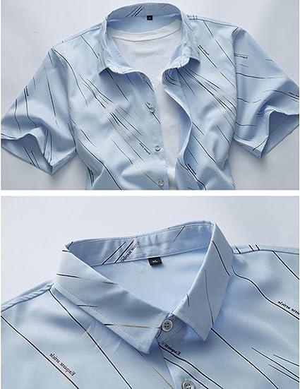Zhuhaitf Mens Fathers Floral Beach Holiday Summer Linen Short Sleeve Shirts