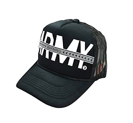Michelangelo Half Net Cotton Army Cap for Men and Women(Black)  Amazon.in   Clothing   Accessories 61578b3e4a1