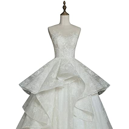 Vestido de novia Crystal Decoration, Heavy Craft Estilo Europeo Bride Tailing Court Mujer Ailin Home