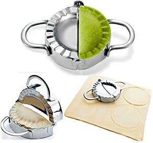 "Dumpling Maker - Dumpling Press/Stainless Steel Empanada Press/Pie Ravioli Dumpling Wrappers Mold Kitchen Accessories (9.5cm/3.74"" Large)"