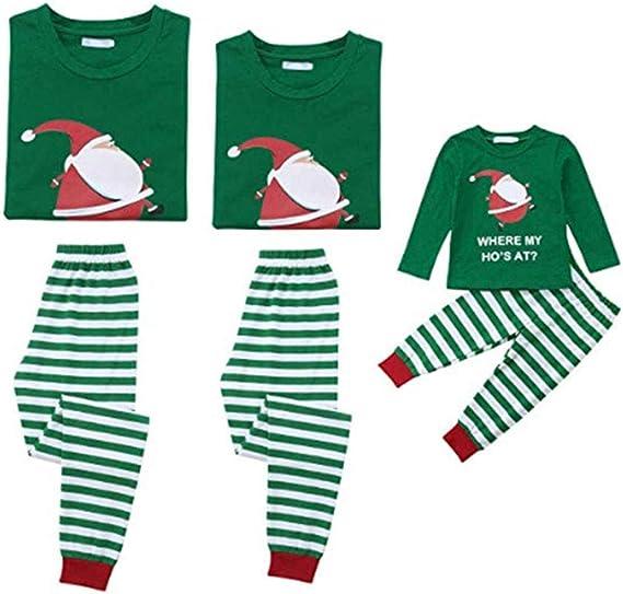 CHRONSTYLE Pijamas Dos Piezas Familiares de Navidad, Conjuntos ...