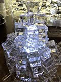 white glass gems - 60 PCS Crystal Clear Acrylic Ice Cubes Square Shape, for Photography Props or Home And Kitchen Decoration.By Sunrise Crystal