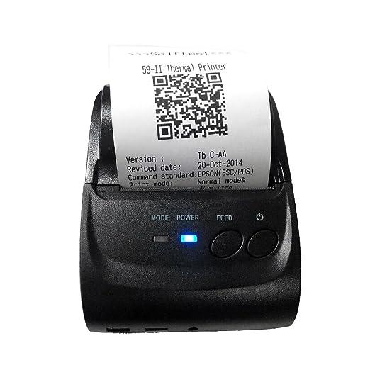 Homyl 1 pc de Impresora de 58mm Bluetooth Compatible con ...