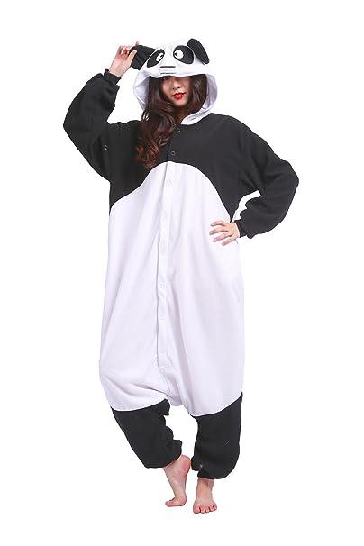 Hstyle Adultos Trajes Unisex Mamelucos Pijama De Halloween Cosplay Disfraces De Navidad Panda Grande
