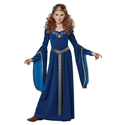 Royal Blue Medieval Princess Kids Costume: Clothing