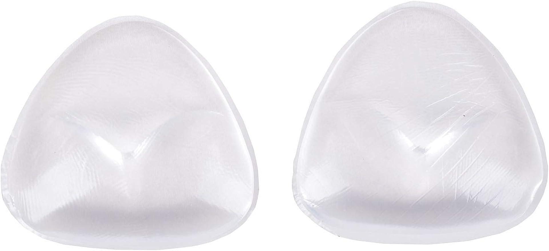 Pair Soft Bikini Bra Insert//Silicone Triangle Pads Enhancer//Swimsuit Push-up BZ