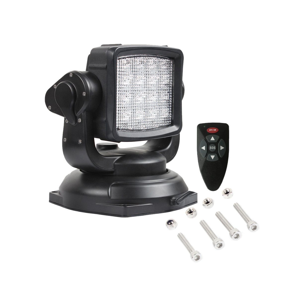 lightronic Remote Control Search-Light 10-30V 360/º 80W CREE LED Rotating Remote Control Work Light Spot for Hummer Jeep Off-Road Vehicles Trucks Boat Home Security Protection Emergency Lighting
