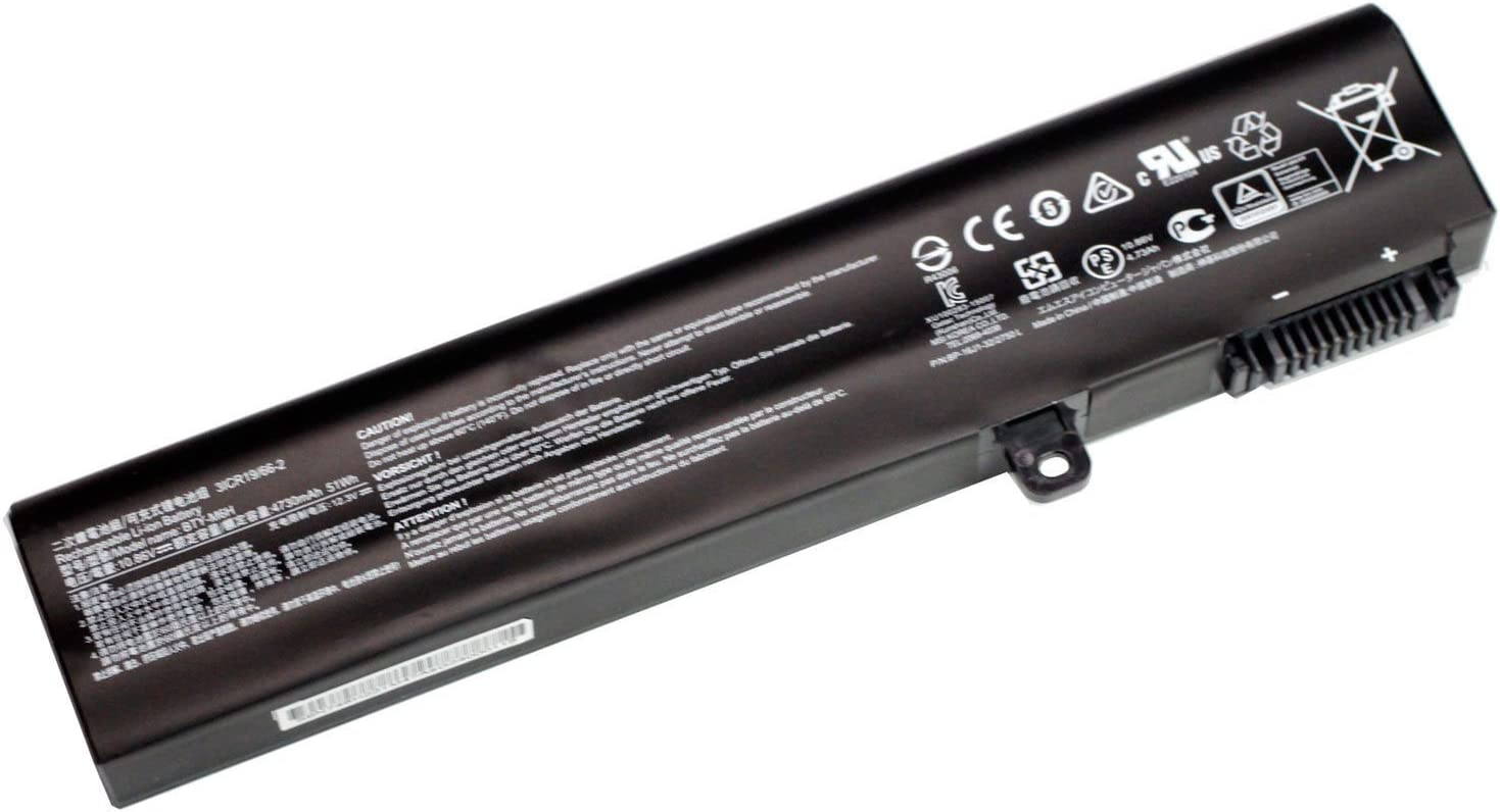Dentsing BTY-M6H Battery for MSI GE62 GE72 GP62 PE60 PE70 10.86V 4730mAh 51Wh